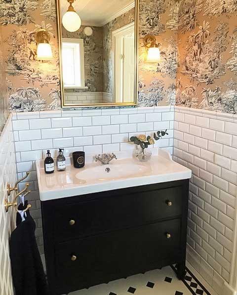 Tvättställsblandare - Kensington krom - gammaldags inredning - klassisk stil - retro -sekelskifte