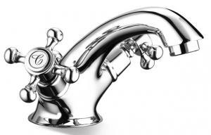 Gammaldags tvättställsblandare - Kensington krom - Sekelskifte