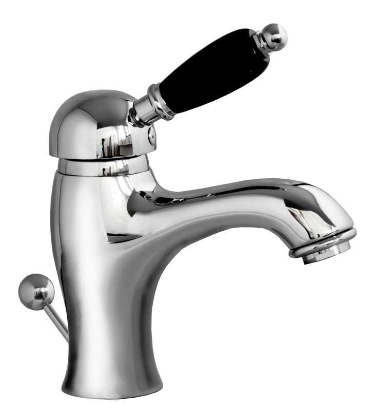 Washbasin Mixer - Paddington chrome with black details