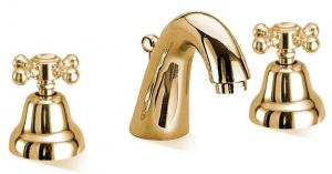 Washbasin Tap - Kensington for 3 tapholes brass