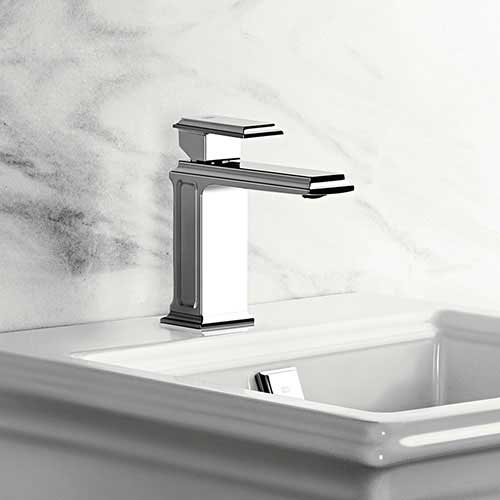 Washbasin mixer art deco - Gessi Eleganza 15 cm chrome
