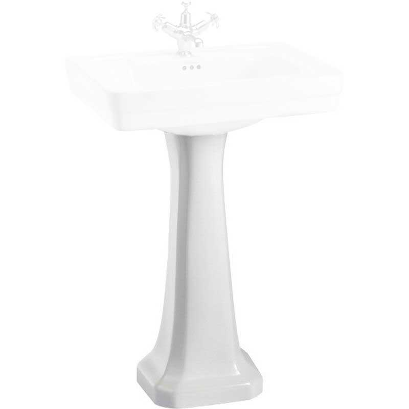 Pedestal to washbasin - Burlington, normal height