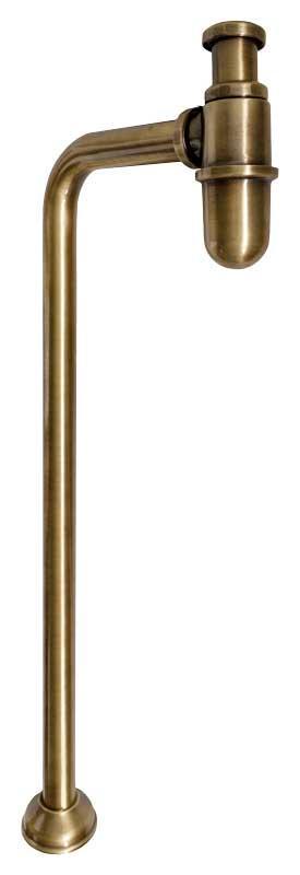 Vannlås for gulvtilkobling - L-rør bronse - arvestykke - gammeldags dekor - klassisk stil - retro