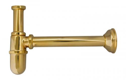 Cup-shaped trap for wall - Brass
