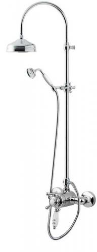 Shower Set - Kensington retro with mixer, chrome