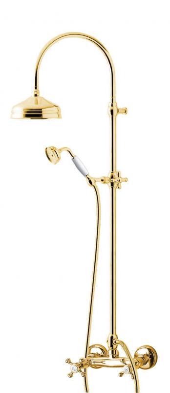 Shower set - Kensington retro old style mixer, brass