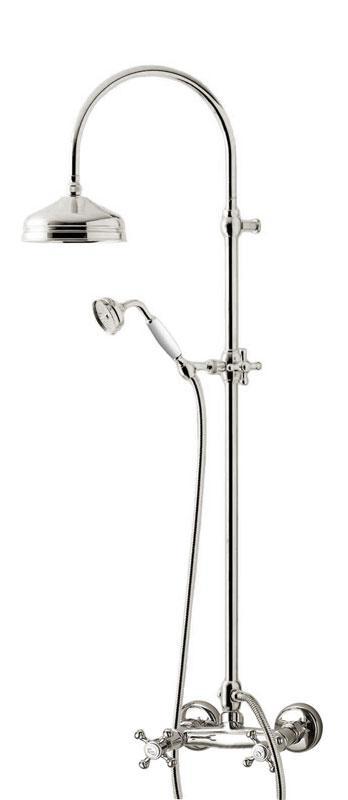 Shower set - Kensington retro old style mixer, chrome