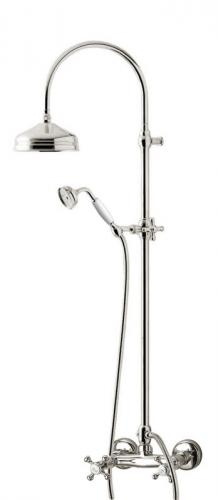 Shower set - Kensington retro old style mixer, chrome