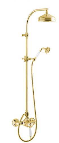 Shower Set - Maxima Low with Oxford thermostat brass