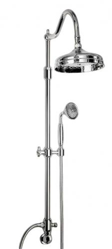 Classic shower Kit without valve in chrome - Canterbury II