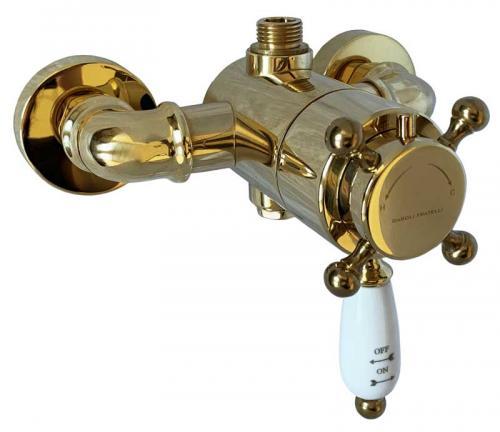 Dusjbatteri - Kensington med termostat messing - arvestykke - gammeldags dekor - klassisk stil - retro