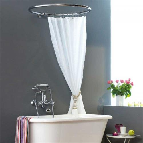 Shower curtain holder - Round 90 cm chrome
