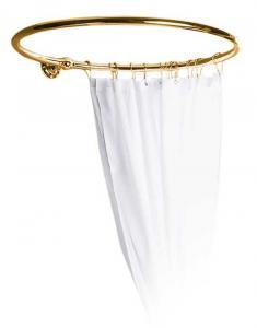 Shower curtain holder - Round 80 cm brass