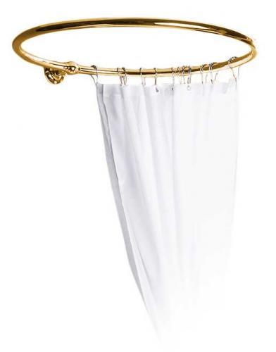 Round shower curtain holder - 90 cm in diameter brass