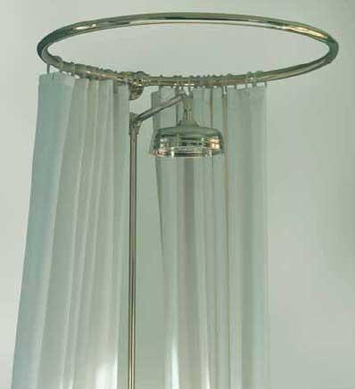 Duschdraperihållare - Rund 80 cm krom - sekelskifte - gammal stil - retro