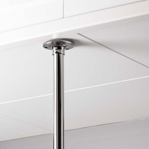 Ceiling bracket for shower curtain holder - Chrome