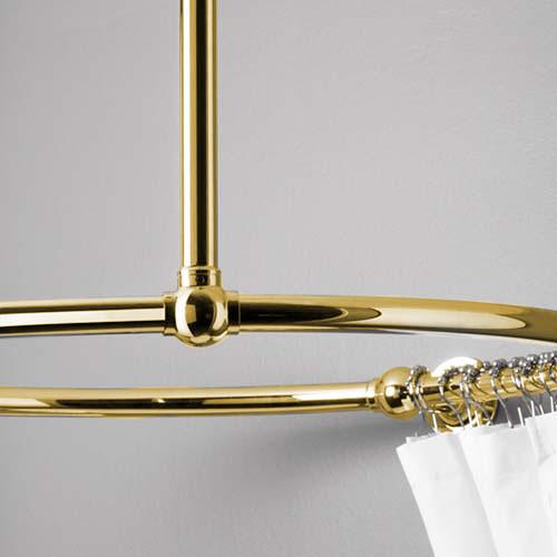 Takfäste till duschdraperihållare - Mässing
