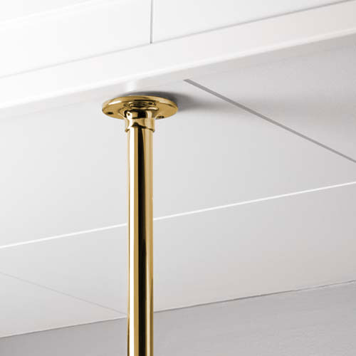 Ceiling bracket for shower curtain holder - Brass
