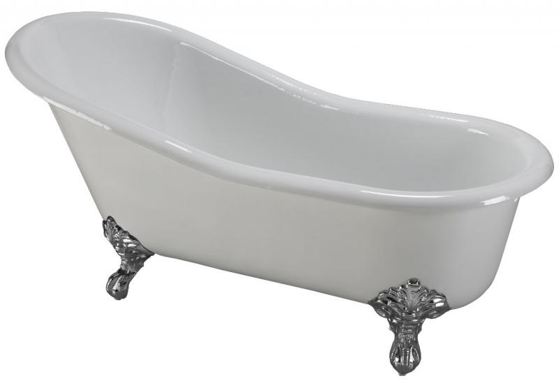 Bathtub - Versailles white cast iron 170 imperial - old style - oldschool interior - vintage style