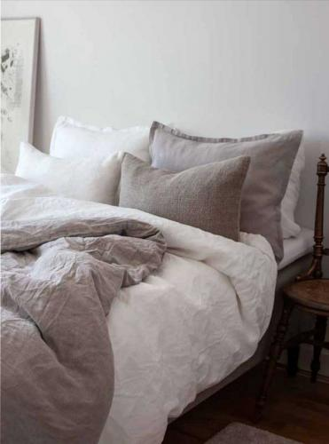 Bed set Classic - 100% linen 150 x 210 cm, offwhite