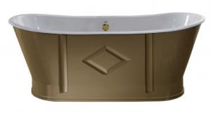 Bathtub - Chateau in beige cast iron 170 cm