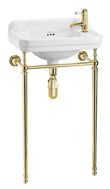 Wash basin - Burlington Edwardian JR with brass wash stand