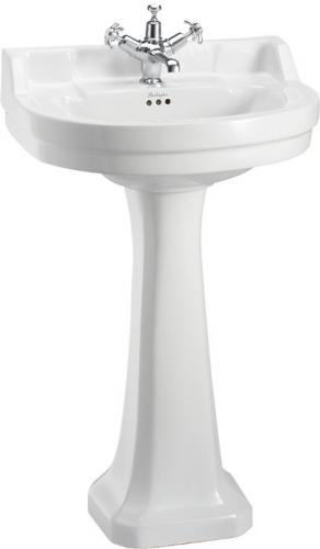 Wash basin Burlington - Rounded Edwardian 56 cm, pedestal