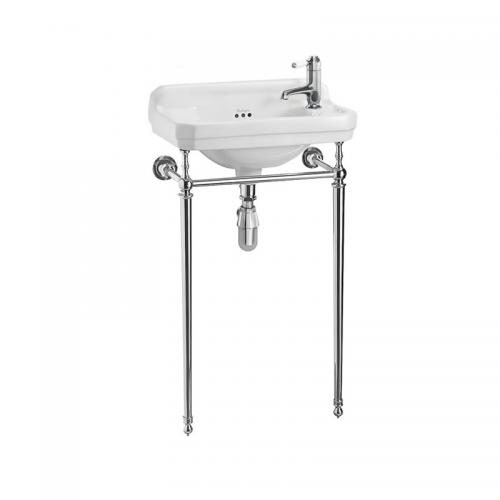Wash basin - Burlington Edwardian JR with chrome wash stand