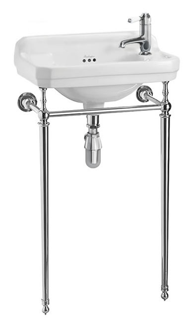 Wash basin - Burlington Edwardian JR with chrome wash stand