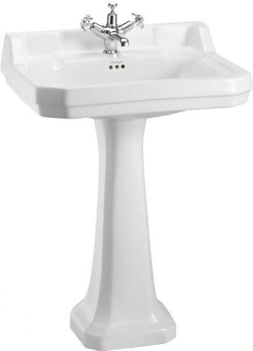 Wash basin Burlington - Edwardian 56 cm pedestal - old style - classic interior - old fashioned