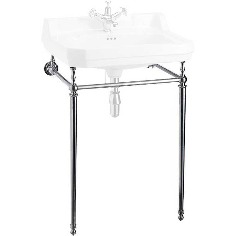 Burlington chrome stand for 61 cm rectangular washbasin, normal height