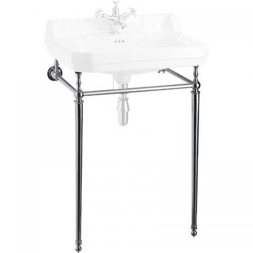 Burlington chrome stand for 61 cm rectangular washbasin, normal height