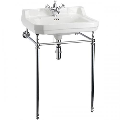 Wash Basin - Burlington Edwardian basin 61 cm with chrome washstand - old style - oldschool