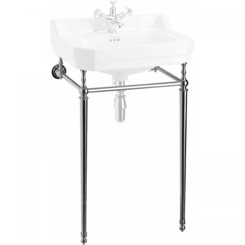 Burlington chrome stand for 56 cm rectangular washbasin, normal height
