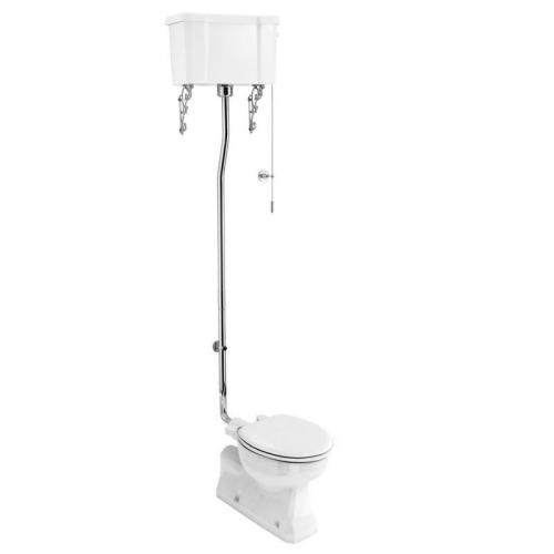 WC - Burlington high level toilet, wall tank & seat