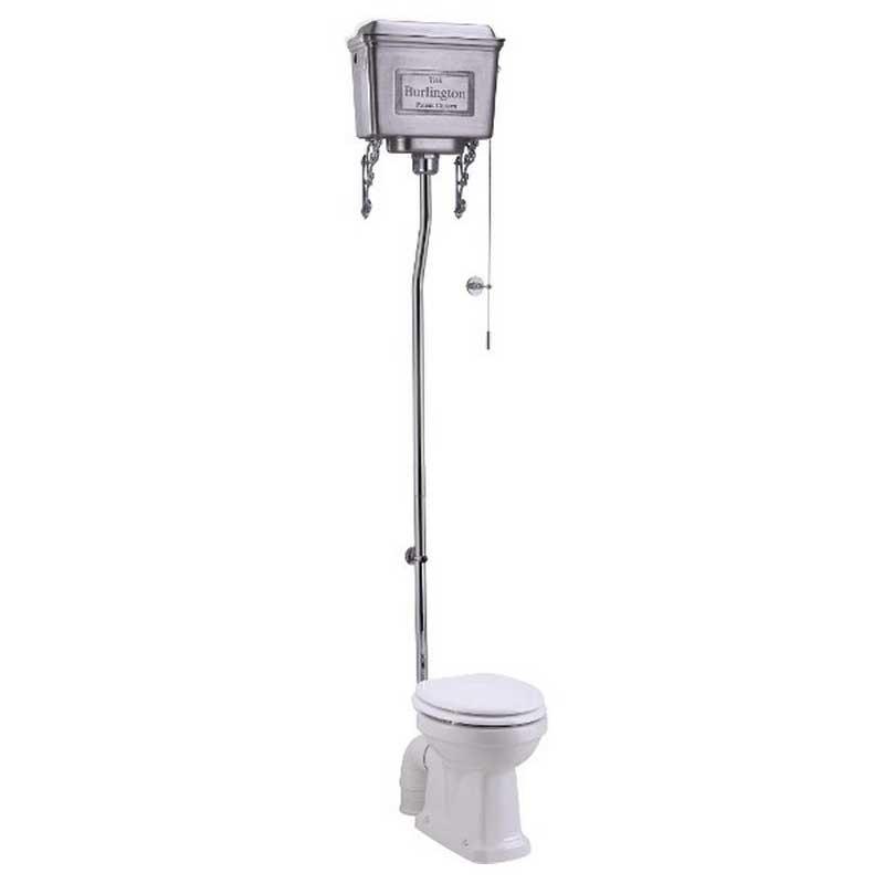 WC - Burlington high level toilet, wall tank & seat