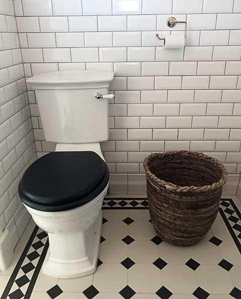 WC - Heritage Blenheim krom gulvstående toalett, liten tank og sete - arvestykke - gammeldags dekor - klassisk stil - retro - sekelskifte