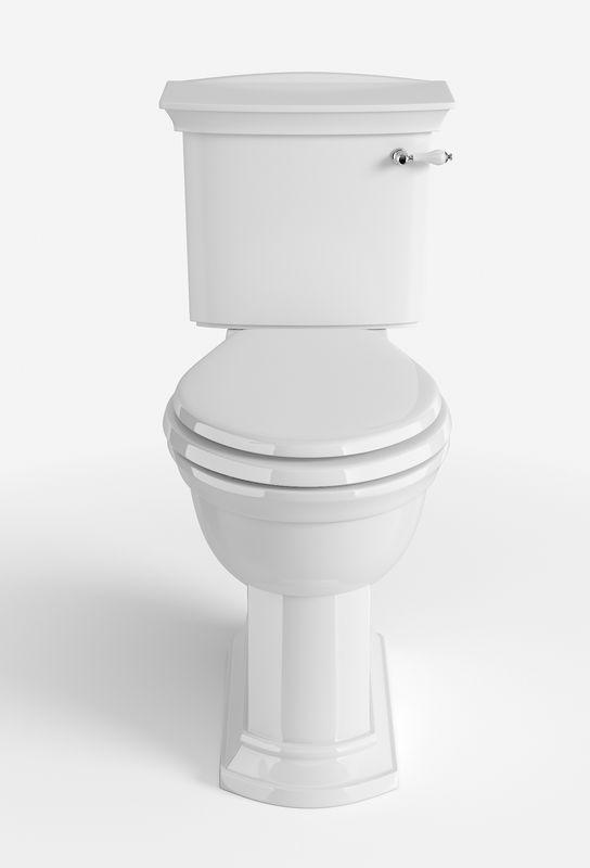 WC - Heritage Blenheim krom gulvstående toalett, liten tank og sete