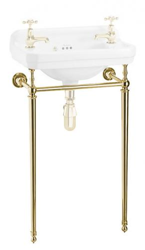 Burlington brass stand for 51 cm rectangular washbasin