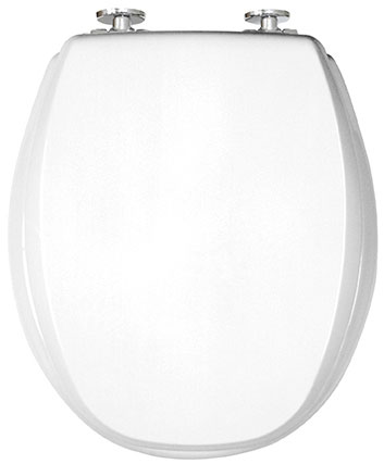 Toilet seat with soft close - KAN, White/chrome