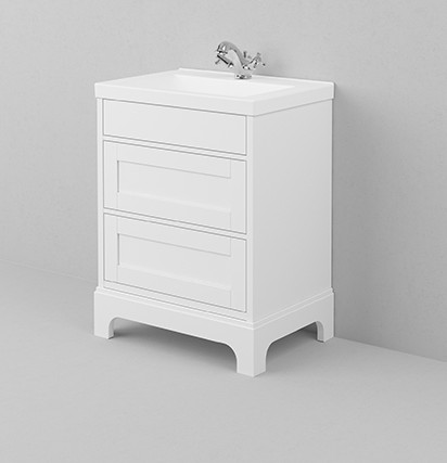 Bathroom washstand - 68 cm white/porcelain