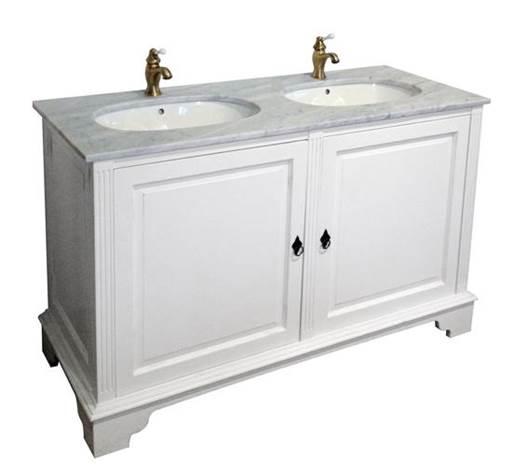 Vitt Kok Med Marmorskiva : Penselmolat vitt dubbelt badrumsskop av tro med marmorskiva och