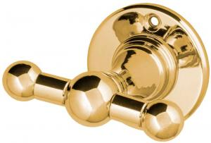 Double Towel Hook Sekelskifte - Brass