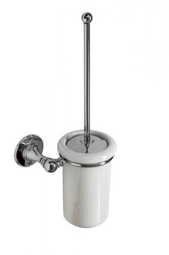 Toalettborste Sekelskifte - Krom/porslin vägg