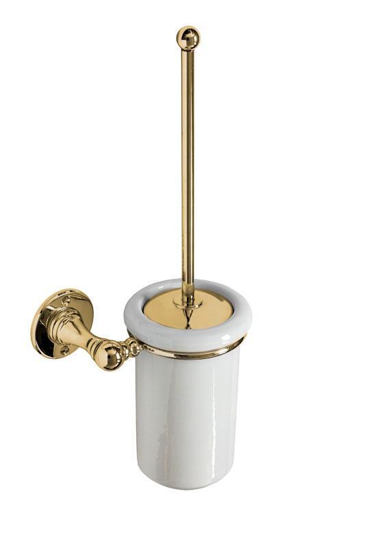 Toalettborste Sekelskifte - Mässing/porslin vägg