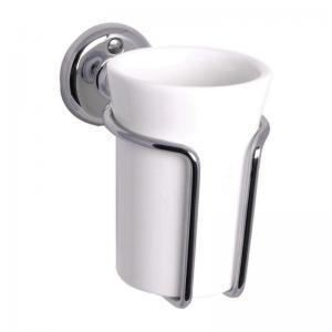 Tannbørstekopp - Haga vegg - Krom/Porselen
