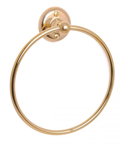 Towel holder Haga - Towel ring brass