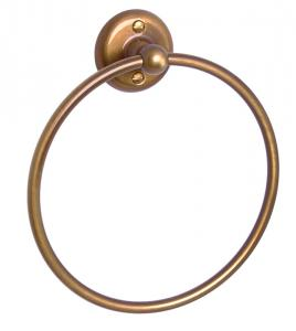 Towel holder Haga - Towel ring bronze