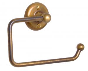 Toilet paper holder Haga - Bronze - oldschool style - vintage interior - retro