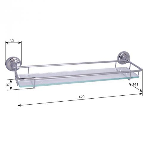 Glass Shelf - Haga 42 cm